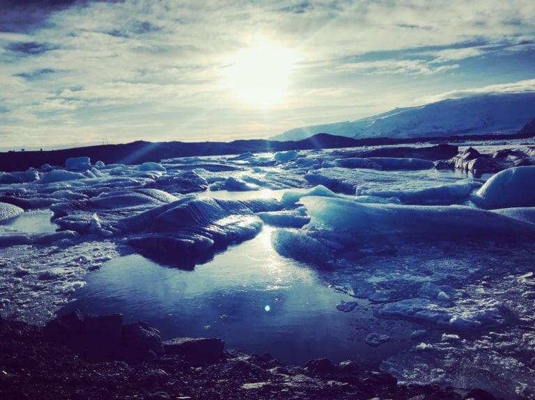glacier iceland winter