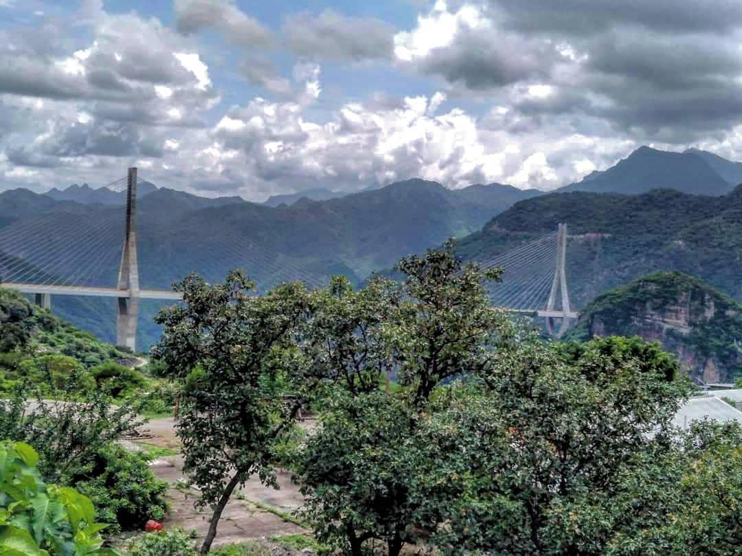 El puente atirantado Baluarte Bicentenario