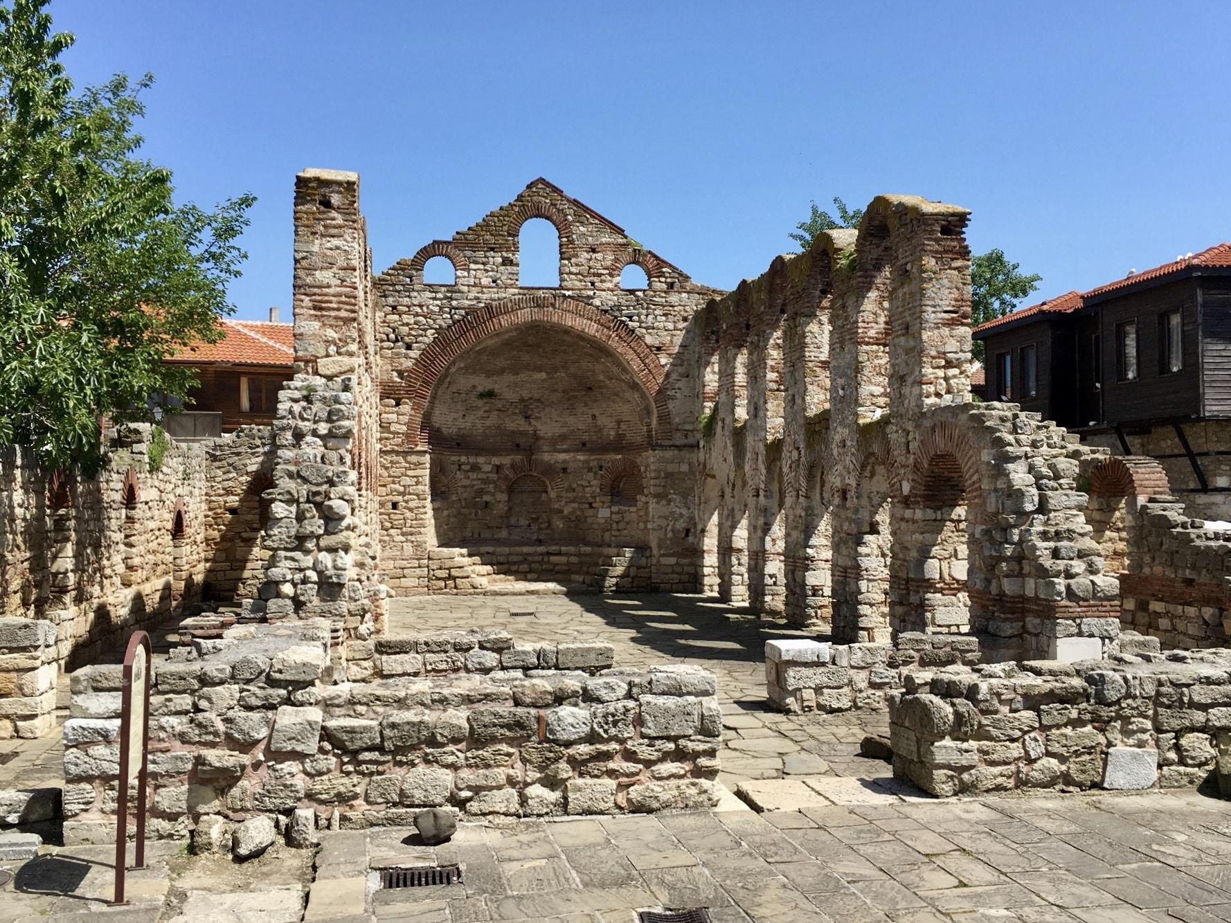 Summer city tour through old Nesebar