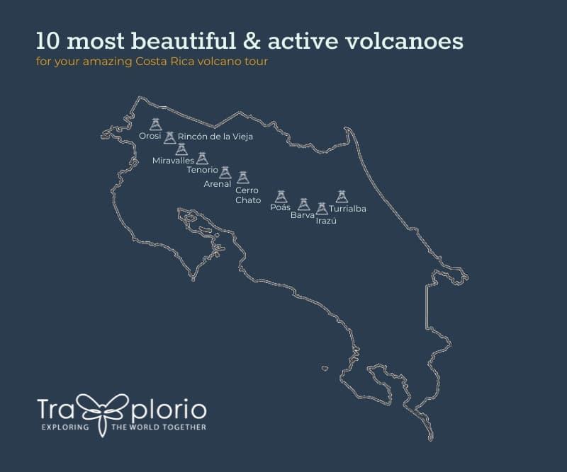 top 10 costa rica volcanoes