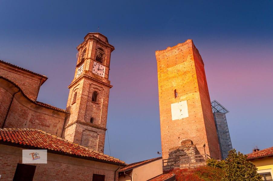 Barbaresco, churches of San Giovanni Battista and Torre