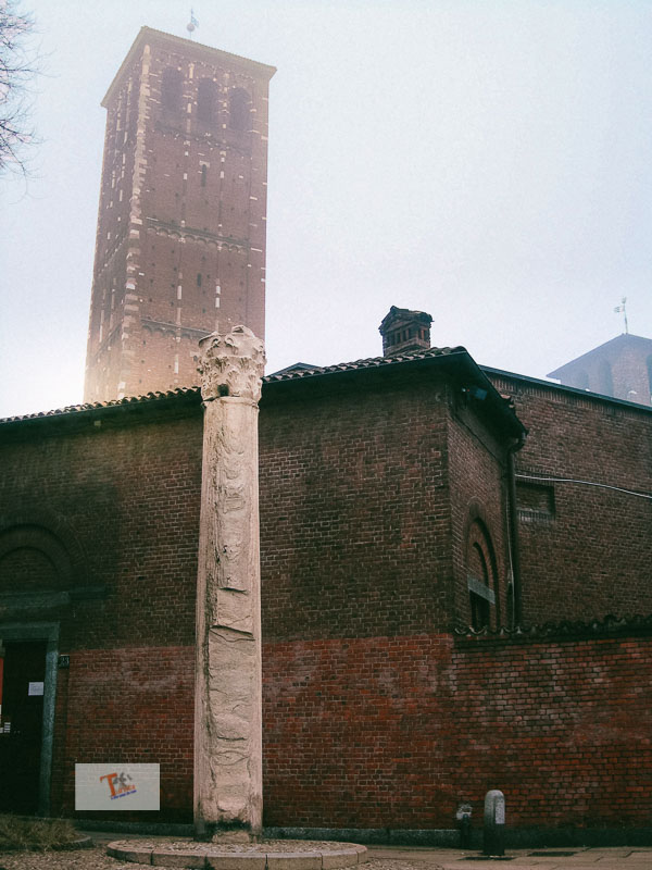Milan and its legends, the Devil's column