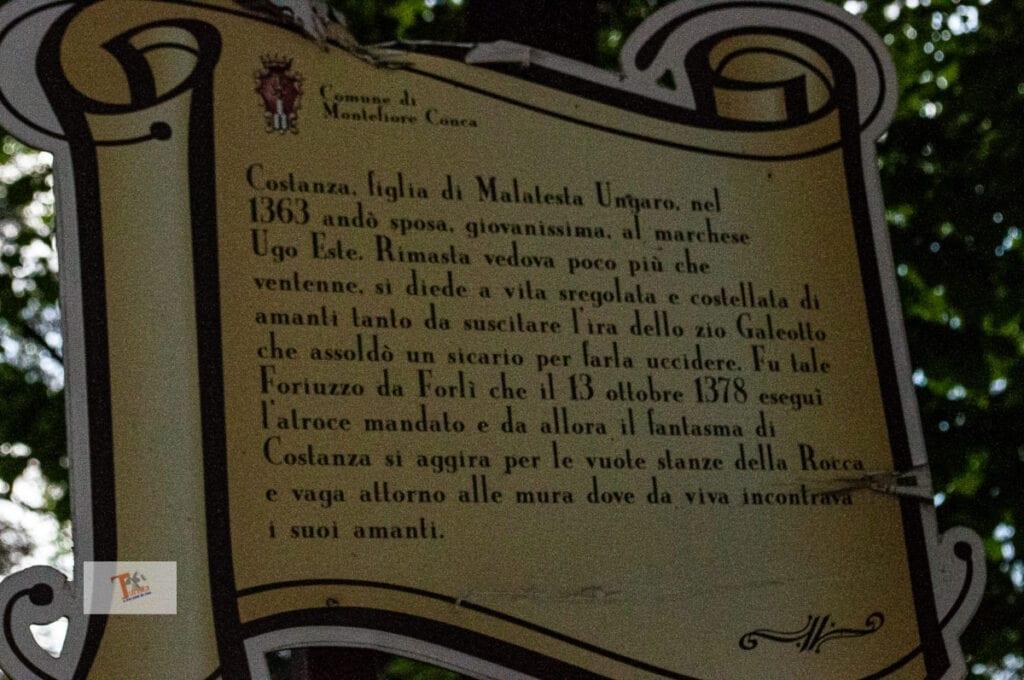 Montefiore Conca, the legend of Costanza