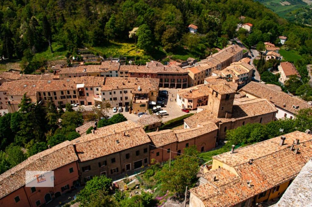 Montefiore Conca, view of the village