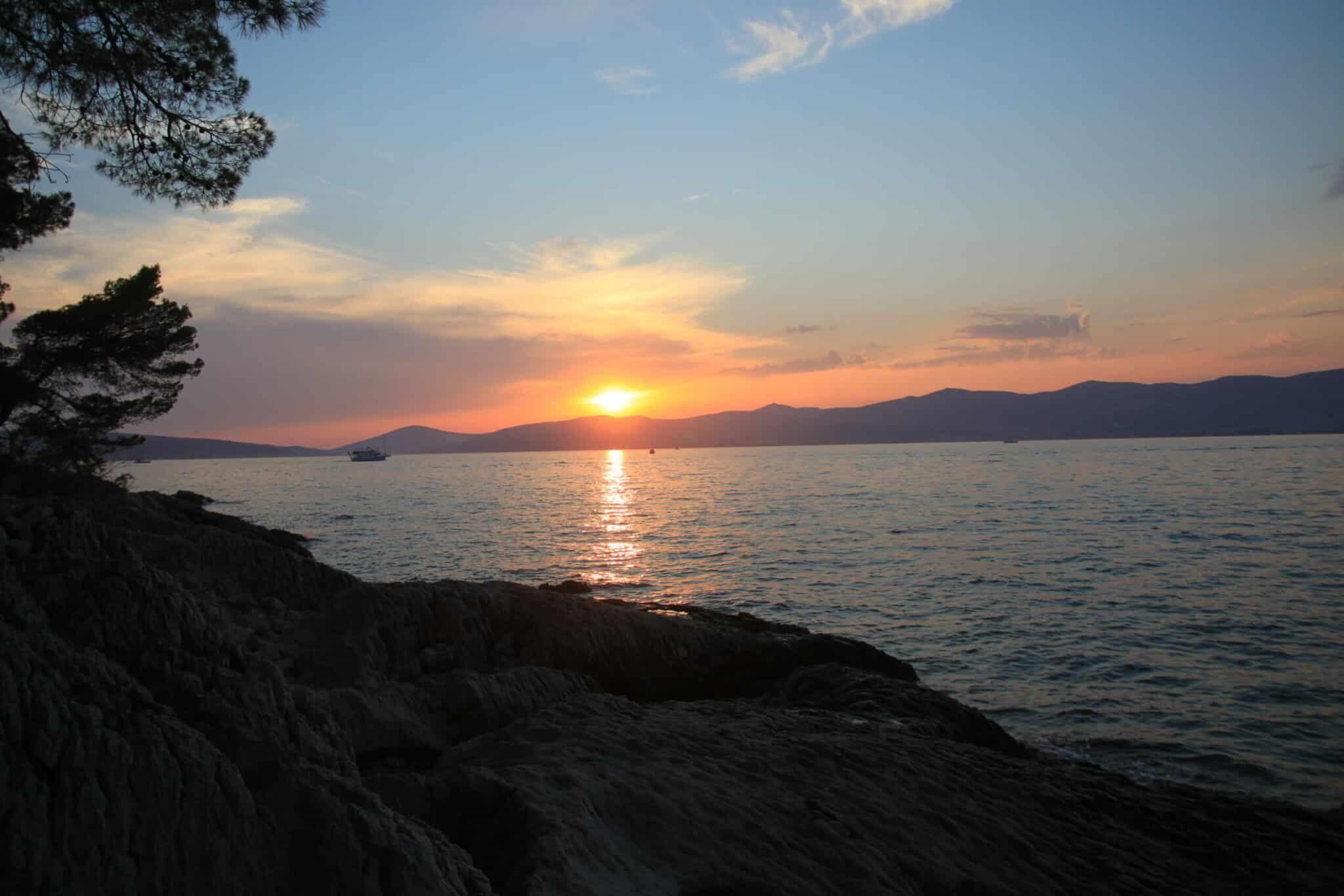 Sonnenaufgang kroatischer Segeltörn